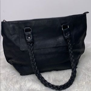 MMS Black Braiden Strap Shoulder Bag